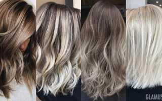Как покрасить темные волосы в пепельный цвет