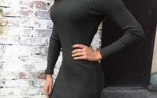 Платье с водолазкой