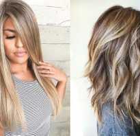 Красивое мелирование на русые волосы двух цветов