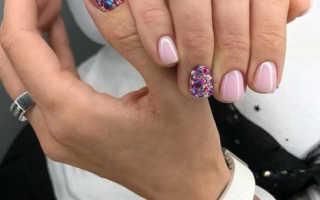Блестящие длинные ногти