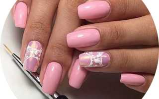 Нежный маникюр ногтей
