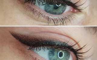 Классическая стрелка на глазах татуаж фото
