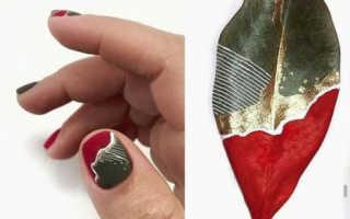 Бордовые ногти фото