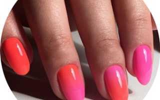 Амбре ногтей шеллаком