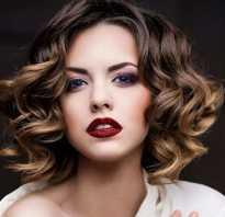 Красивая укладка на среднюю длину волос