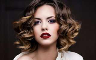 Легкая укладка на средние волосы
