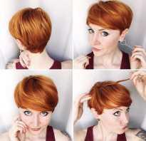 Короткие стрижки на рыжие волосы