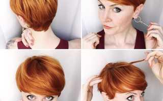 Длинные рыжие волосы с челкой
