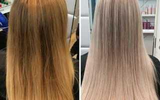 Красивое тонирование волос