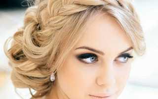 Красивые прически с челкой на средние волосы