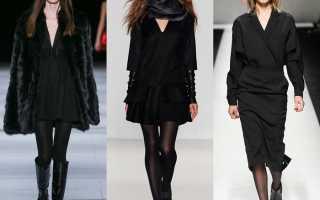 Какого цвета колготки под черное платье