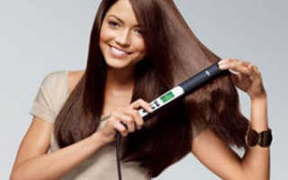 Как накрутить кончики волос утюжком