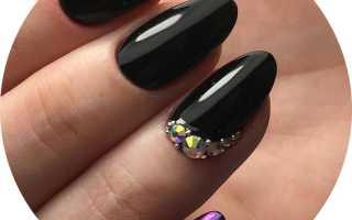 Маникюр черных ногтей