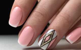 Гелевые ногти френч