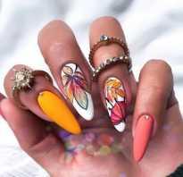 Винные ногти миндаль
