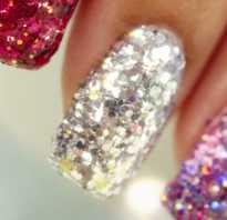 Блестящие ногти гель