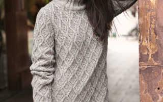 Молодежный свитер для девушки вязание спицами