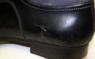 Царапины на нубуковой обуви