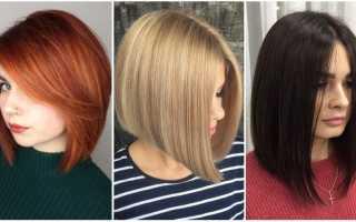 Каре с темно русыми волосами