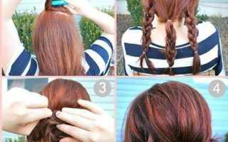 Быстрые прически на среднюю длину волос