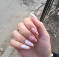 Гель лак дизайн миндальных ногтей