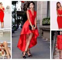 Какие ногти под красное платье