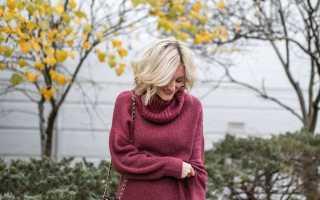 Как носить платье со свитером