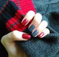 Двухцветный маникюр на короткие ногти