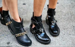 Модная обувь на низком