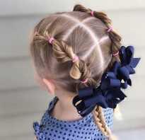 Косички на средние волосы для девочек
