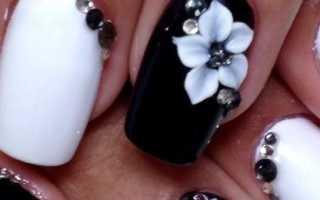 Дизайн ногтей под черное платье фото