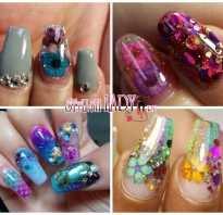 Аквариумные дизайны ногтей