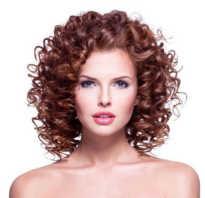 Крупная завивка на короткие волосы