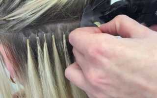 Как наращивать волосы на капсулах