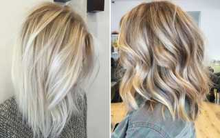 Белые пряди на темных волосах фото