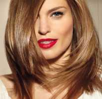 Косая стрижка на средние волосы
