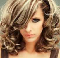 Крупное мелирование на темные волосы