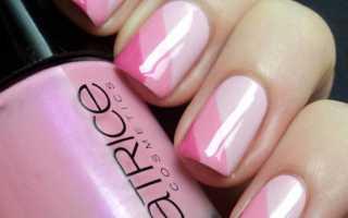 Бело розовый маникюр гель лак фото