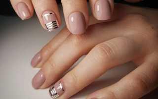 Гелевый маникюр на коротких ногтях фото