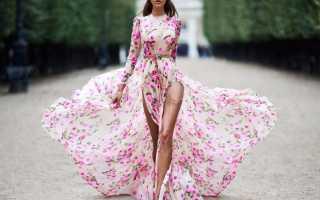 Вечернее платье с пышной юбкой