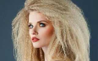 Сколько держится гофре на волосах