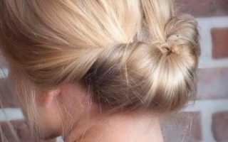 Быстрая прическа на волосы средней длины