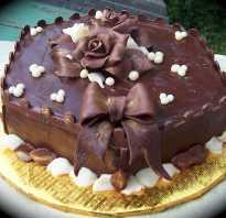 Варианты украшения шоколадного торта