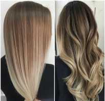 Окраска волос растяжка цвета