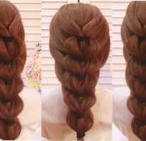 Коса из резинок на волосах фото пошагово