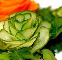 Оформление блюд из овощей