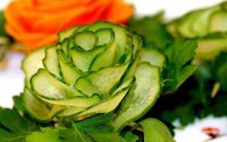 Украшение стола из овощей