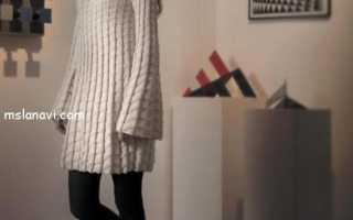 Вязаное платье трапеция