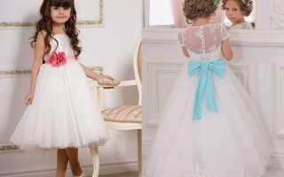Детские бальные платья на выпускной