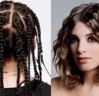 Кудри из косичек на средние волосы